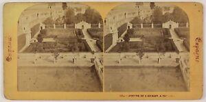 Seville Jardins Da L Alcazar Spagna Foto Stereo Th2n58 Vintage Albumina c1870