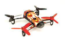 Skin/Wrap for Parrot Bebop Quadcopter Drone: Red & Yellow Carbon Fiber