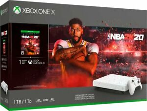NEW Microsoft Xbox One X 1TB NBA 2K20 Special Edition Gaming Home Console Bundle