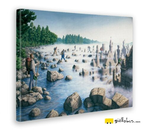 Stampa fine art – Pronto da appendere Quadro Rob Gonsalves Stepping stones
