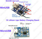 5V 1A Micro/Mini USB 1S 3.7V Lithium Lipo Battery Charging Module Charger Board