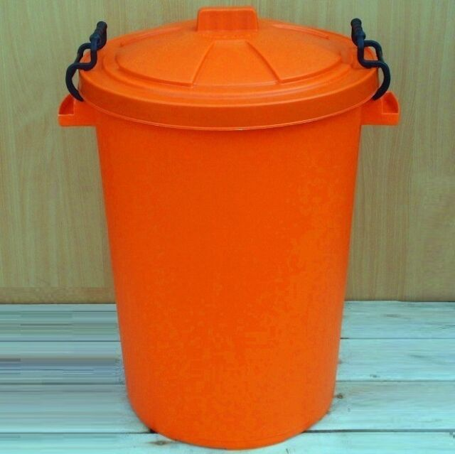 50L 80/85L 110L Litre Coloured Bins Heavy Duty Storage Garden Houses Made In UK