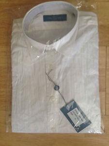 Mens-white-Core-Spirit-CRINKLE-long-sleeve-smart-shirt-Size-Small-NEW