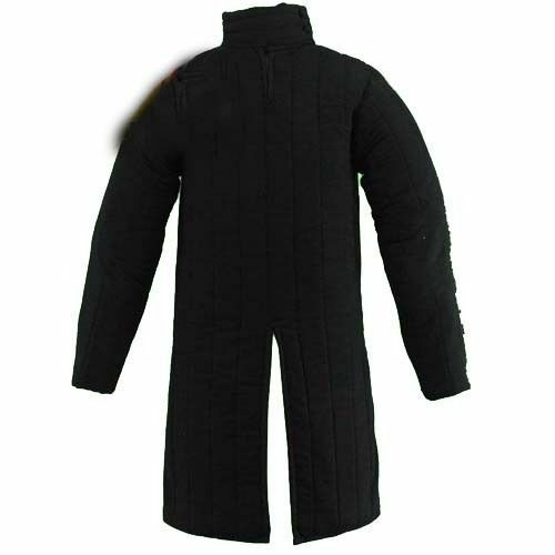 X-Mas Gift Thick Padded Black Medieval Gambeson Jacket COSTUMES DRESS SCA