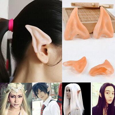 Halloween Costume Elf Fairy Ear Tips Hobbit Vulcan Spock Alien Cosplay Tool M3