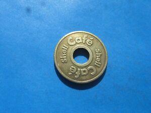 (7c2) Shell Cafe Doré Jeton Coin-afficher Le Titre D'origine Moderne Et EléGant à La Mode