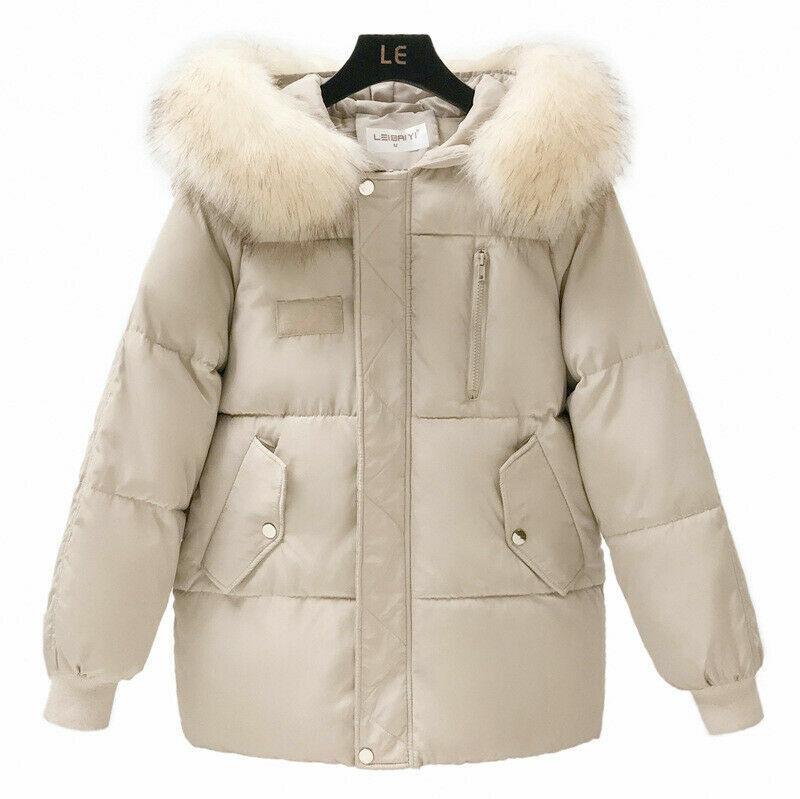 Winter Women Cotton Parka Jacket Coat Laides Zipper Hooded Long Outerwear S-2XL