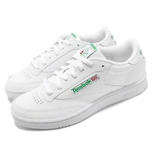 c47fd044e05 Reebok Club C 85 White Green Men Classic Casual Lifestyle Shoes ...
