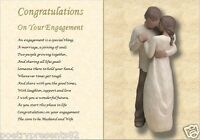CONGRATULATIONS ON YOUR ENGAGEMENT, personalised poem (Laminated Gift)