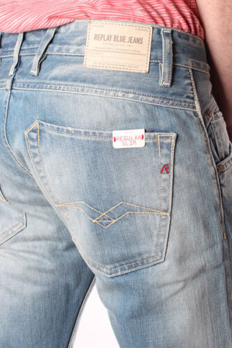 Jeans trousers Pantaloni Denim REPLAY Jeans ma944 118 360 011 zeppo signori