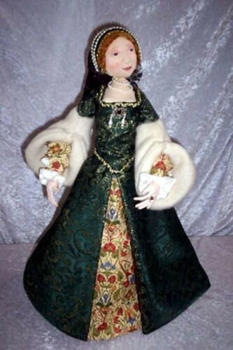 """PAPER *NEW* CLOTH ART DOLL PATTERN /""""LADY ANNE/"""" BY SUZETTE RUGOLO"""