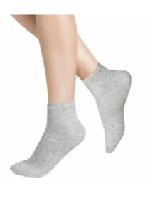 Best Price Mens Trainer Socks 12 Pairs Plain Cotton Boot Ankle Footwear Grey 6-8