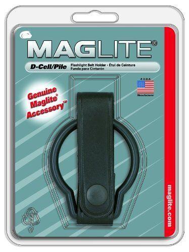 MAG-Lite MAG LED 3D Cell Cell Cell Alu Taschenlampe schwarz 860g ST3D016 + Ledergürtelring 775f69