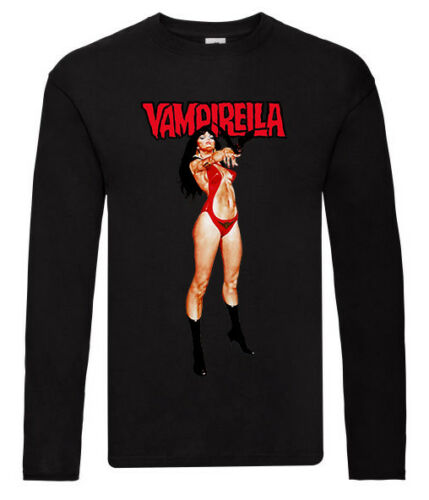 Toutes Tailles S-5XL Jim Wynorski Poster VAMPIRELLA V2 manches longues T-shirt blanc