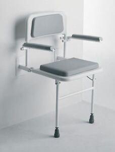 Image Is Loading Wall Mounted Fold Away Shower Seat Bathroom Stool