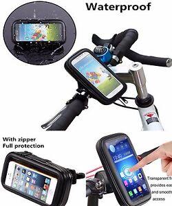 IMPERMEABILE-Bike-Mount-HOLDER-caso-Bicicletta-Copertura-Per-Diversi-Telefoni-Cellulari-Nero