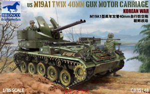 Bronco-CB35148-1-35-US-M19A1-Twin-40mm-Gun-Motor-Carriage-Korean-War-Hot