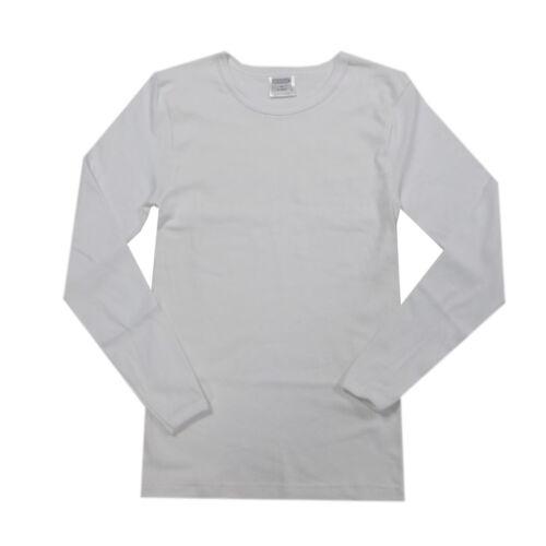 Libel Sous-Vêtements Maillot Corps Manches Longues Blanc Unisexe Coton Taille 152