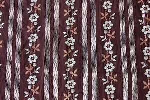 """Antique American c1880-70 Printed Floral Cotton  Fabric~24""""X 23""""~Quilts,Dolls"""