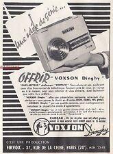 Publicité Poste Radio transistor VOXSON Dinghy  vintage print ad  1954 -2j
