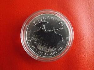 * Kanada 5 Dollar 2012 * 1 Oz Silber * Wildlife * Elchf (schub 40) Einfach Zu Verwenden
