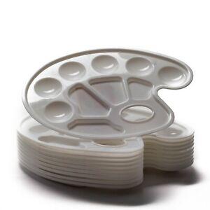 10x-Farbmischpalette-Mischpalette-Farbpalette-in-weiss-aus-Kunststoff