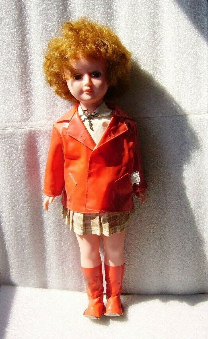 RARE VINTAGE NICE PLASTIC DOLL, BULGARIA OR ITALY, 1970s