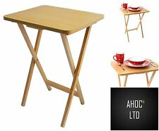 Folding Snack Table Wooden Desk Foldable Portable Small Dining Stand Furniture