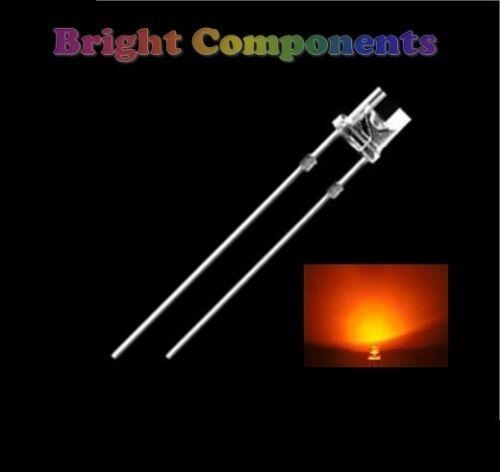 1st CLASS POST Ultra Bright 10 x Orange LED 5mm Flat Top - UK 6000mcd