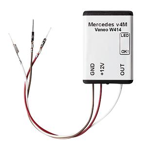 Mercedes Benz vaneo w414 sensor maletero airbag módulo esterilla sede maletero