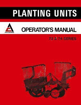 ALLIS CHALMERS 300 S 2 4 6 R Planter Operators Manual