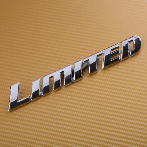 3D Chrome ABS Car Styling Badge Sticker Luxury Letter Emblem Decal for LIMITED