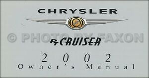 2002 chrysler pt cruiser owners manual new original touring limited rh ebay com 2002 pt cruiser owners manual free 2002 pt cruiser owners manual free