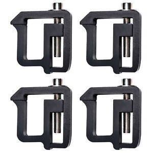 4Pcs Truck Cap Mounting Clamps for Truck Bed Rack and Truck Canopy Brackets