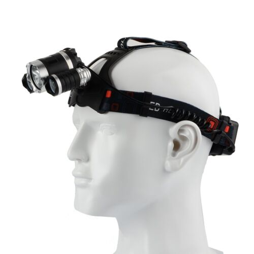 2x Battery Rechargeable Head Torch Headlamp Light Lamp 12000LM 3 x XML T6 LED