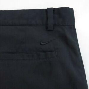 Mens-Nike-Golf-Shorts-Size-34-Flat-Front-Tour-Performance-Dri-Fit-Black