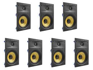 7-Pack-TDX-8-034-2-Way-in-Wand-Heimkino-Surround-Sound-Lautsprecher-Unterputz-weiss