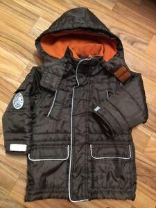 Details zu Polomino C&A Kinder Winter Jacke Mädchen Jungen Braun Gr. 92 guter Zusta.