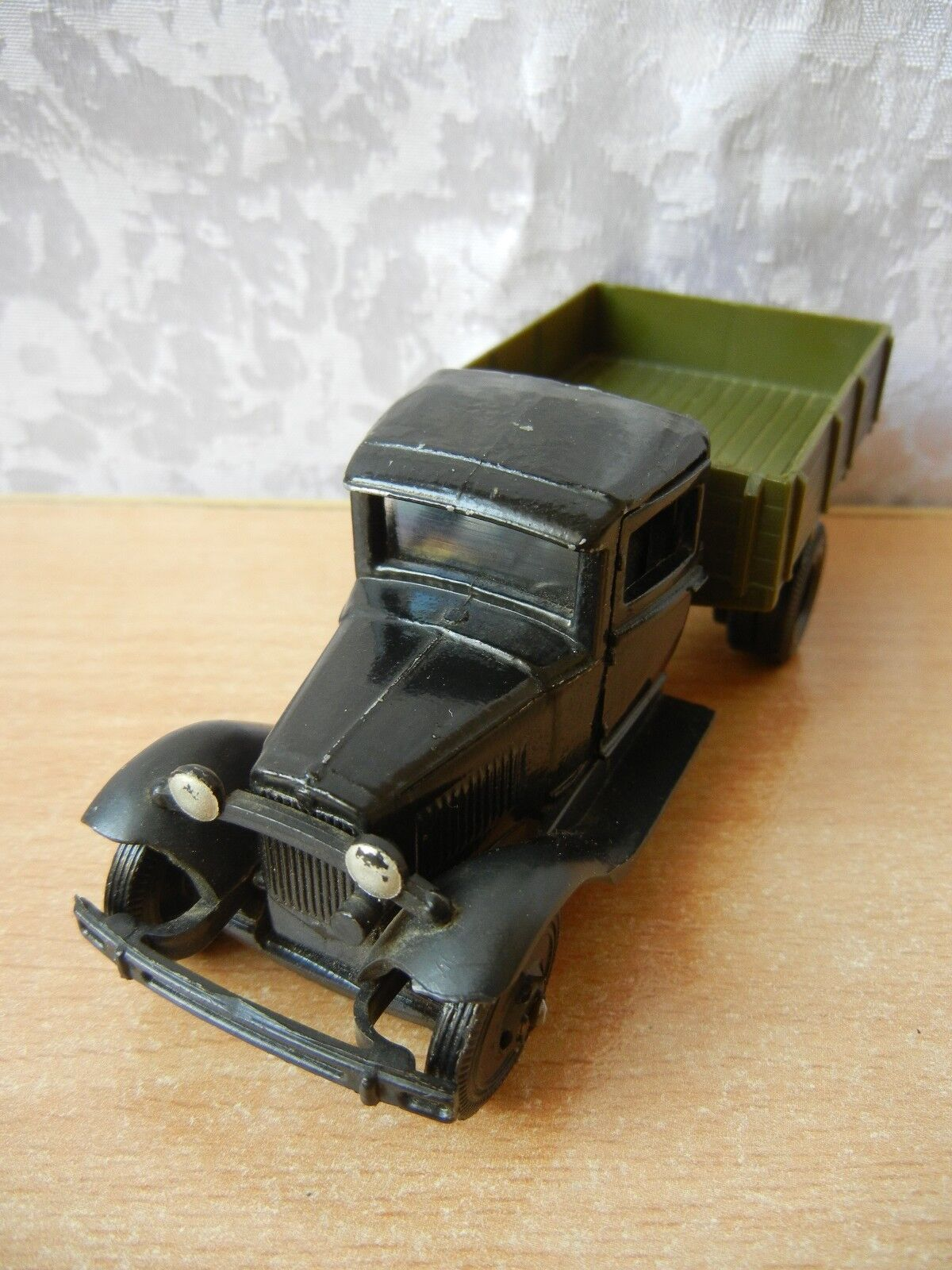 Vintage toy soviet car GAZ - AA metal model Military equipment USSR 1 43
