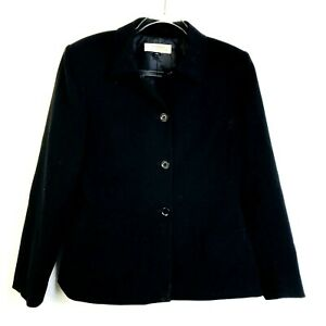Tahari Arthur S  Levine Black Blazer Career Women Size 10 Polyester Business