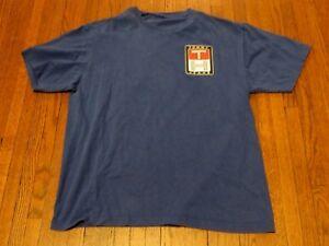 20bf430c Men's VTG 90's Tommy Hilfiger Jeans Logo Royal Blue T-Shirt sz L   eBay