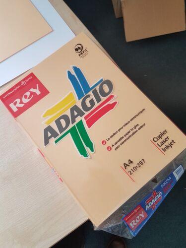 A4 Beige Coloured copier Paper 80gsm Copier//laser//Inkjet Adagio brand