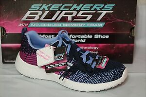 4dc0f87a0c SKECHERS BURST-ELLIPSE GIRLS SHOES, SIZE11Y, BLACK/BLUE/PINK, 81908L ...