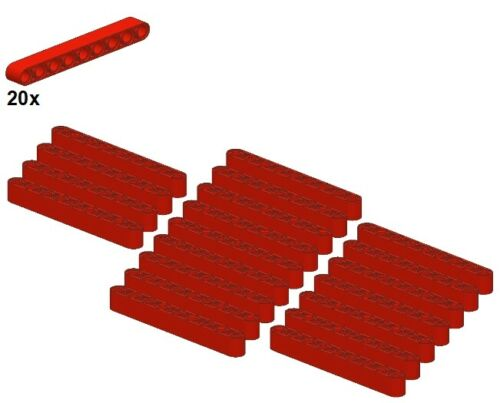 Technic Liftarms 20Stk LEGO® Rot Gerade/& Red 1x9 40490-01 - Balken