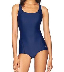 Speedo-Womens-Swimwear-Navy-Blue-Size-12-PowerFlex-Ultraback-Swimsuit-68-948