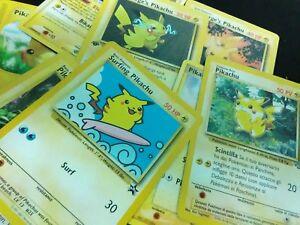 Pokemon-cards-lot-Pikachu-surfing-Pikachu-Italian-9-Cards