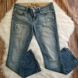 PAIGE-Jeans-Womens-Distressed-BELL-CANYON-Flare-Stretch-Denim-Med-Wash-28-x-28