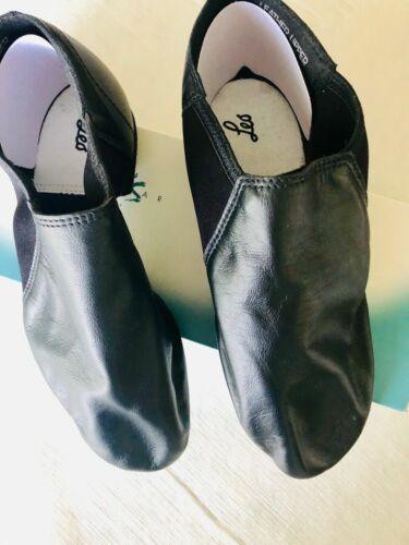 Leo's Adult Gioflex Slip-On Jazz Shoe LS4006L Black Leather New in Box