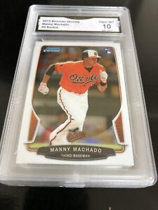2013-Bowman-Chrome-Draft-Manny-Machado-RC-4-Graded-10