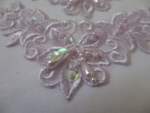 "6  1//4/"" Costume Lyrical Headband Dance Venise Lace Beaded Appliques Lavender"